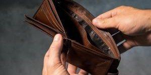 leere Geldbörse