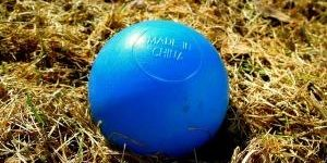 blauer Ball Made in China